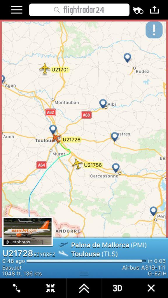 Embarquement EasyJet - Arrivée Vol Toulouse